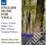 English music for viola and piano (music cd musicale di Miscellanee