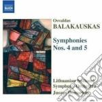 Balakauskas Osvaldus - Sinfonia N.4, N.5 cd musicale di Osvaldus Balakauskas