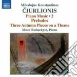 Opere per pianoforte (integrale), vol.2 cd musicale di Mikalojus Ciurlionis
