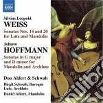 Weiss Silvius Leopold - Sonata Per Liuto E Mandolino N.14 E N.20 cd musicale di Weiss silvius leopol