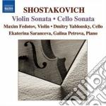 Sciostakovic Dmitri - Sonata Per Violoncello Op.40, Sonata Per Violino Op.134 cd musicale di Dmitri Sciostakovic