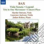 Bax Arnold - Sonata Per Viola, Concert Piece, Legend, Trio In 1 Movement Op.4 cd musicale di Arnold Bax