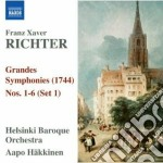 Richter Franz Xavier - Grandes Symphonies Nn.1-6 cd musicale di Richter franz xavier