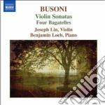 Busoni Ferruccio - Sonata Per Violino N.1 Op.29, N.2 Op.36a, Bagatelle Op.28 cd musicale di Rerruccio Busoni