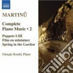 Opere per pianoforte (integrale), vol.2 cd musicale di Bohuslav Martinu