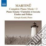 Opere per pianoforte (integrale), vol.3 cd musicale di Bohuslav Martinu