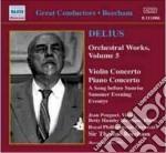 Delius Frederick - Concerto Per Violino, Concerto Per Pianoforte, Eventyr, Estratti cd musicale di Frederick Delius