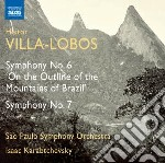 Villa-lobos Heitor - Sinfonia N.6 'on The Outline Of The Mountains Of Brazil',  Sinfonia N.7 cd musicale di Villa lobos heitor