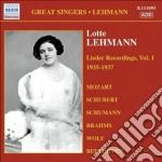 Lieder recordings, vol. 1 (1935-1937) cd musicale di Lotte Lehmann