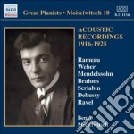 Moiseiwitsch Benno - Acoustic Recordings 1916-1925 cd musicale di Benno Moiseiwitsch