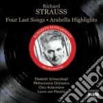 4 ultimi lieder, arabella (estratti) cd musicale di Richard Strauss