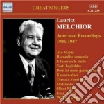 American recordings (1946-47) cd musicale di Lauritz Melchior