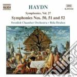 Haydn Franz Joseph - Sinfonia N.50, 51 E 52 cd musicale di HAYDN