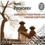 Prokofiev Sergei - Concerto X Pf N.3 Op.26, Visioni Fuggitive,contes De La Vieille Grand-mere Op.31 /yakov Kasman Pf, The Moscow State Symphony Orches cd musicale di Sergei Prokofiev