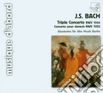 Bach J.S. - Concerto Triplo Bwv 1052, Concerto Per Clavicembalo Bwv 1044 cd musicale di Johann Sebastian Bach