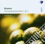 Brahms - Borodin String Quartet - Apex: Quartetti Per Archi Nn. 1 & 3 cd musicale di Strin Brahms\borodin