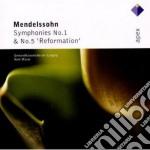 Mendellsohn - Masur - Apex: Sinfonie Nn. 1 & 5 cd musicale di Mendellsohn\masur