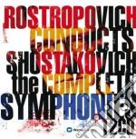 Integrale delle sinfonie cd musicale di SHOSTAKOVICH\ROSTROP