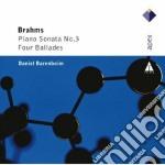 Brahms - Barenboim - Apex: Piano Sonata N. 3 & 4 Ballate cd musicale di Brahms\barenboim