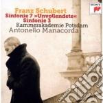 Schubert - Sinfonie N. 3 & 7 - Antonello Manacorda cd musicale di Antonello Manacorda