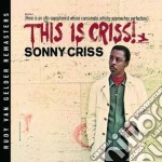 Sonny Criss - This Is Criss cd musicale di Sonny Criss