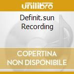 DEFINIT.SUN RECORDING cd musicale di LEWIS JERRY LEE