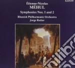 Mehul Etienne-nicolas - Sinfonia N.1, N.2  - Rotter Jorge Dir  /rhenish Philharmonic Orchestra cd musicale di Étienne-nicola Mehul