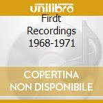 FIRDT RECORDINGS 1968-1971 cd musicale di Sweet