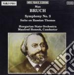 Bruch Max - Sinfonia N.3 Op.51, Ouverture Su Temi Russi Op.79b  - Honeck Manfred Dir  /hungarian State Orchestra cd musicale di Max Bruch
