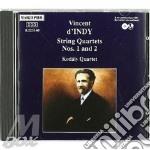 QUARTETTO X ARCHI N.1 OP.35, N.2 OP.45 cd musicale di Vincent D'indy