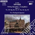 QUARTETTI X ARCHI VOL.2 (INTEGRALE): N.2 cd musicale di Louis Spohr