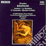 Respighi Ottorino - Aretusa, La Sensitiva, Il Tramonto, 4 Liriche Dal Poema Paradisiaco Di G.d'annun cd musicale di Ottorino Respighi