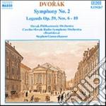 Dvorak Antonin - Sinfonia N.2 Op.4, Legends N.6 > N.10 Op.59 cd musicale di Antonin Dvorak