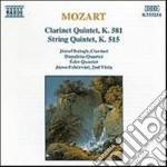 Mozart Wolfgang Amadeus - Quintetto X Clar E Archi K 581, ... cd musicale di Jozsef Balogh