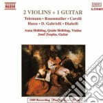 2 VIOLINS + 1 GUITAR cd musicale