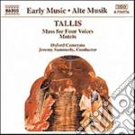 Tallis Thomas - Messa A 4 Voci, Mottetti Sacri cd musicale di Thomas Tallis