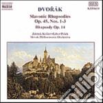 RAPSODIA SLAVA N.1, N.2, N.3 OP.45, RAPS cd musicale di Antonin Dvorak