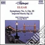 Elgar Edward - Sinfonia N.1 Op.55, Imperial March Op.32 cd musicale di Edward Elgar