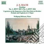 Bach J.S. - Partita N.1 Bvw 825, N.2 Bwv 826, Capriccio Bwv 992 Sopra La Lontananza ... cd musicale di Johann Sebastian Bach