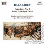 SINFONIA N.2, RUSSIA (POEMA SINFONICO) cd musicale di BALAKIREV MILY ALEXE