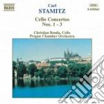 Stamitz Carl - Concerto X Vlc N.1, N.2, N.3 cd musicale di Carl Stamitz