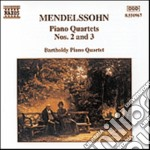 Mendelssohn Felix - Quartetto X Pf N.2 Op.2, N.3 Op.3 cd musicale di MENDELSSOHN