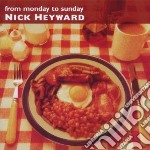 FROM MONDAY TO SUNDAY -EXPANDED EDITION   cd musicale di Nick Heyward