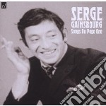 Serge Gainsbourg - Songs On Page One cd musicale di Serge Gainsbourg