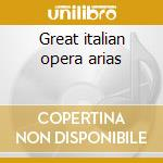 Great italian opera arias cd musicale