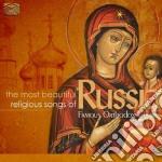 THE MOST BEAUTIFUL RELIGIOUS SONGS OF RU  cd musicale di Artisti Vari
