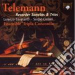 Telemann Georg Philip - Trii E Sonate Per Flauto Dolce cd musicale di Telemann georg phili