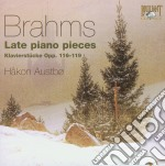 Late piano pieces op.116-119 cd musicale di Brahms