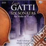 Six sonatas for violin & viola cd musicale di Luigi Gatti