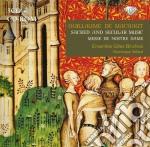 Sacred and secular music cd musicale di Machaut guillaume de